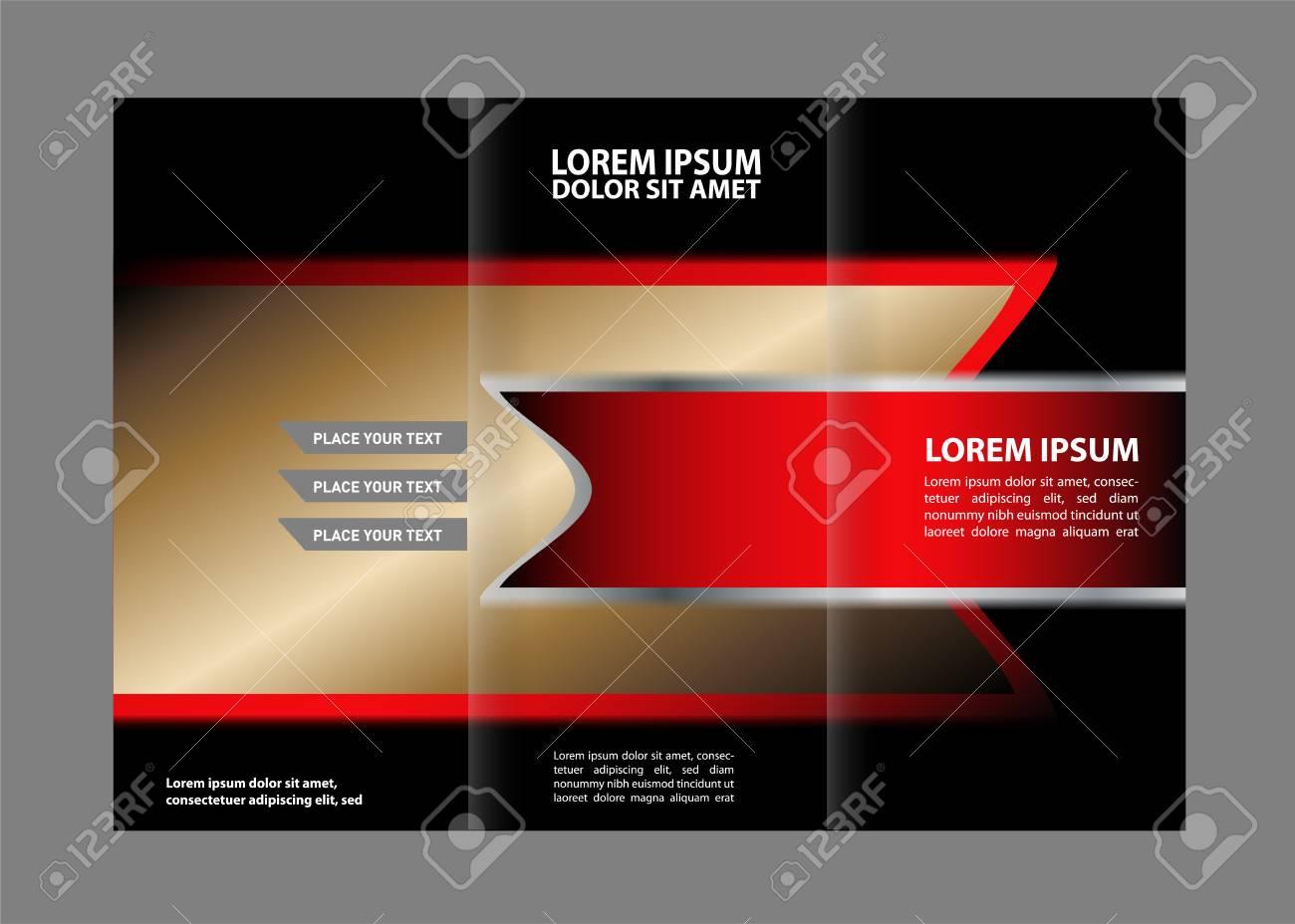 tri fold brochure design beauty salon and catalog vector template stock vector 59488357