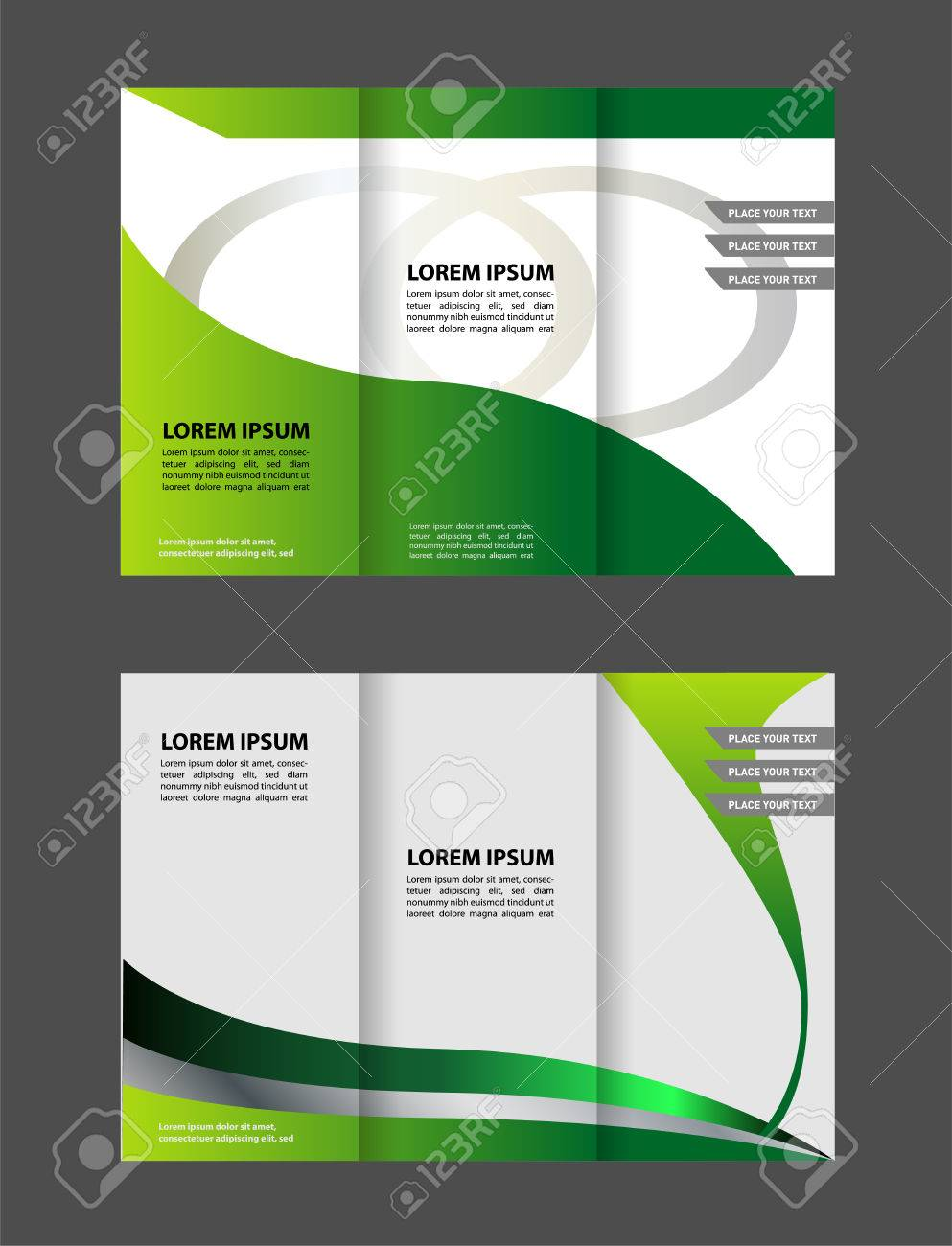 trifold brochure template design with polygons polygonal sphere