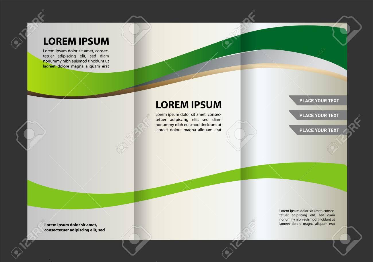 tri fold brochure design beauty salon and catalog vector template stock vector 59489783