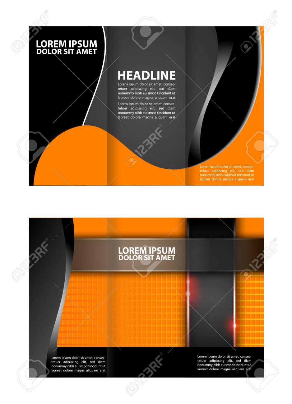 trifold brochure template design empty vector ロイヤリティフリー