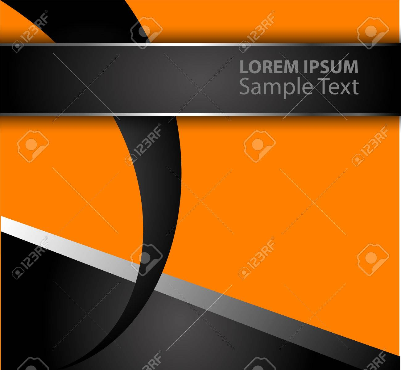 Orange Black Abstract Vector Background