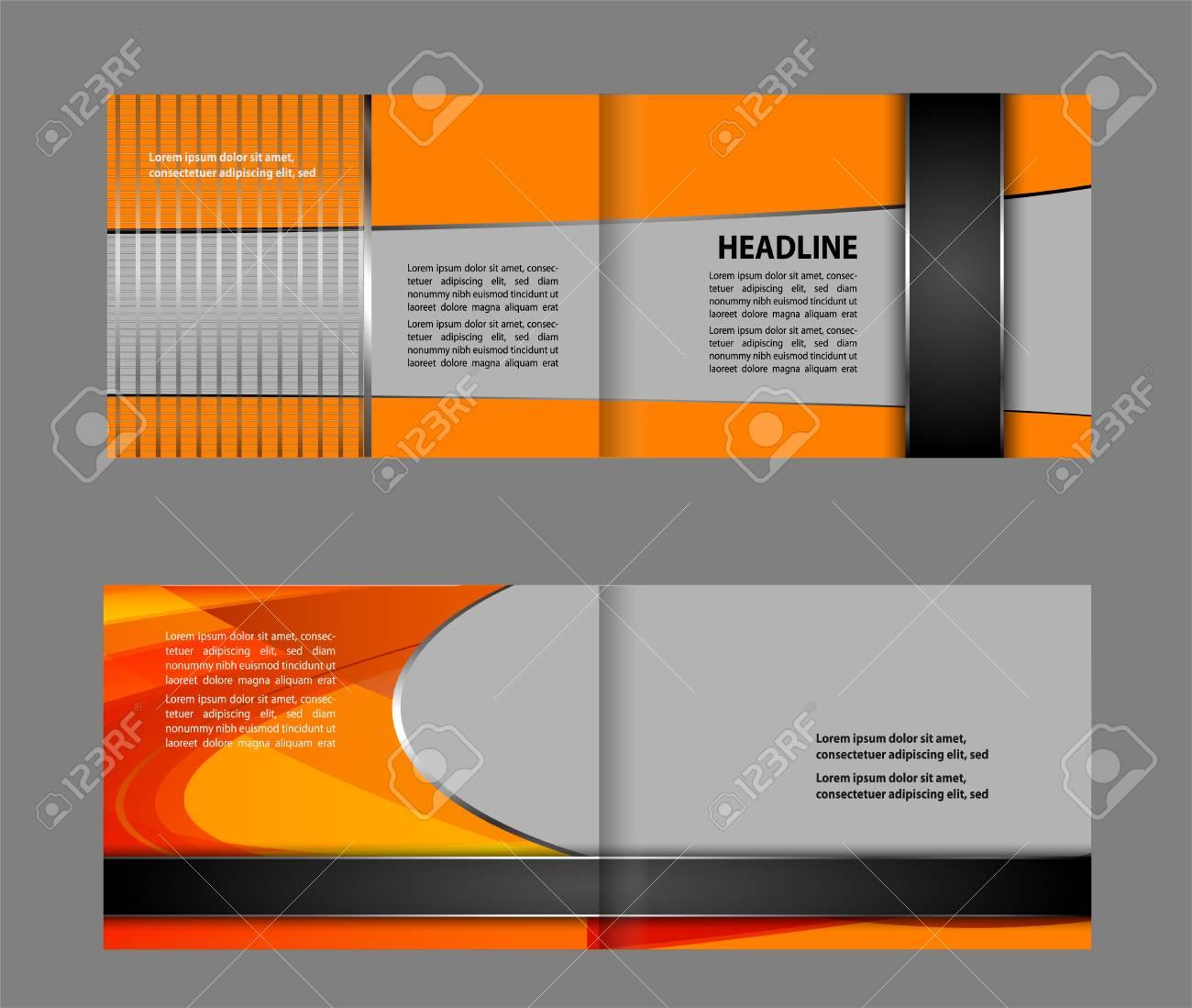 bi fold brochure design leaflet corporate cover template royalty