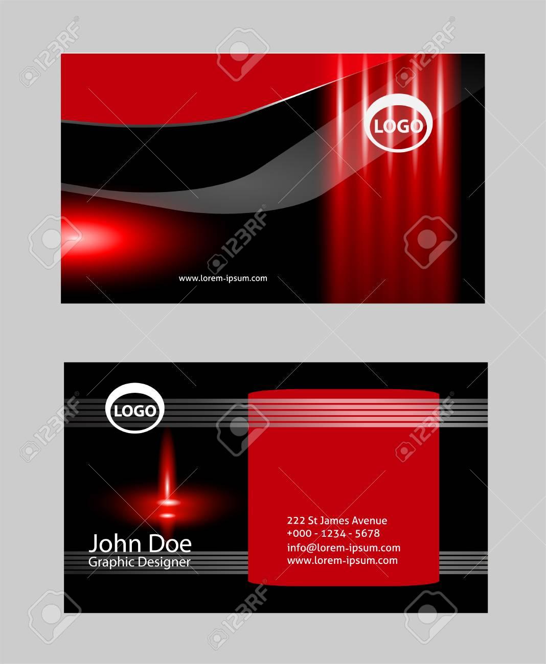 Design De Carte Visite Moderne Clip Art Libres Droits