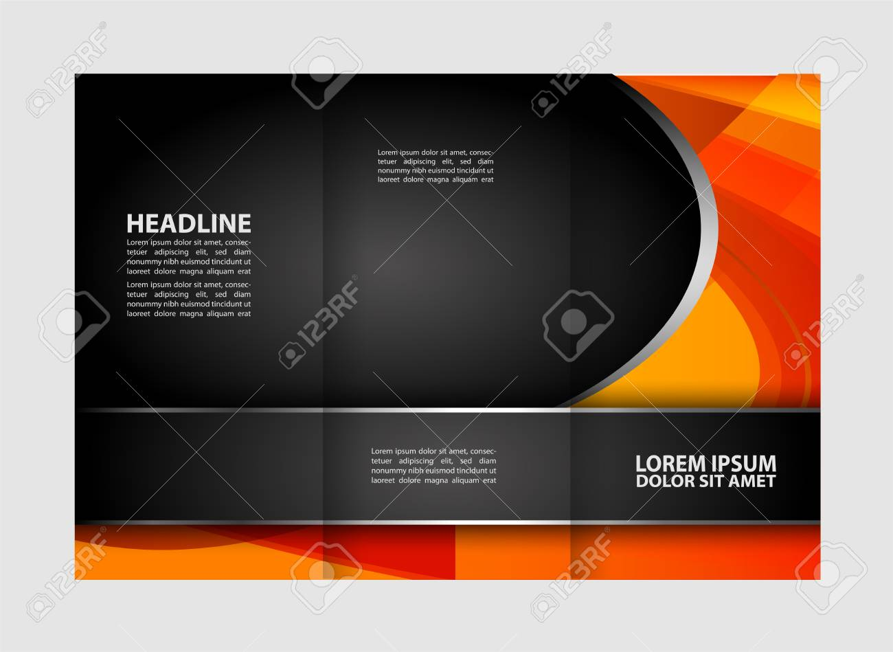 tri fold brochures design folding brochure lighting royalty free