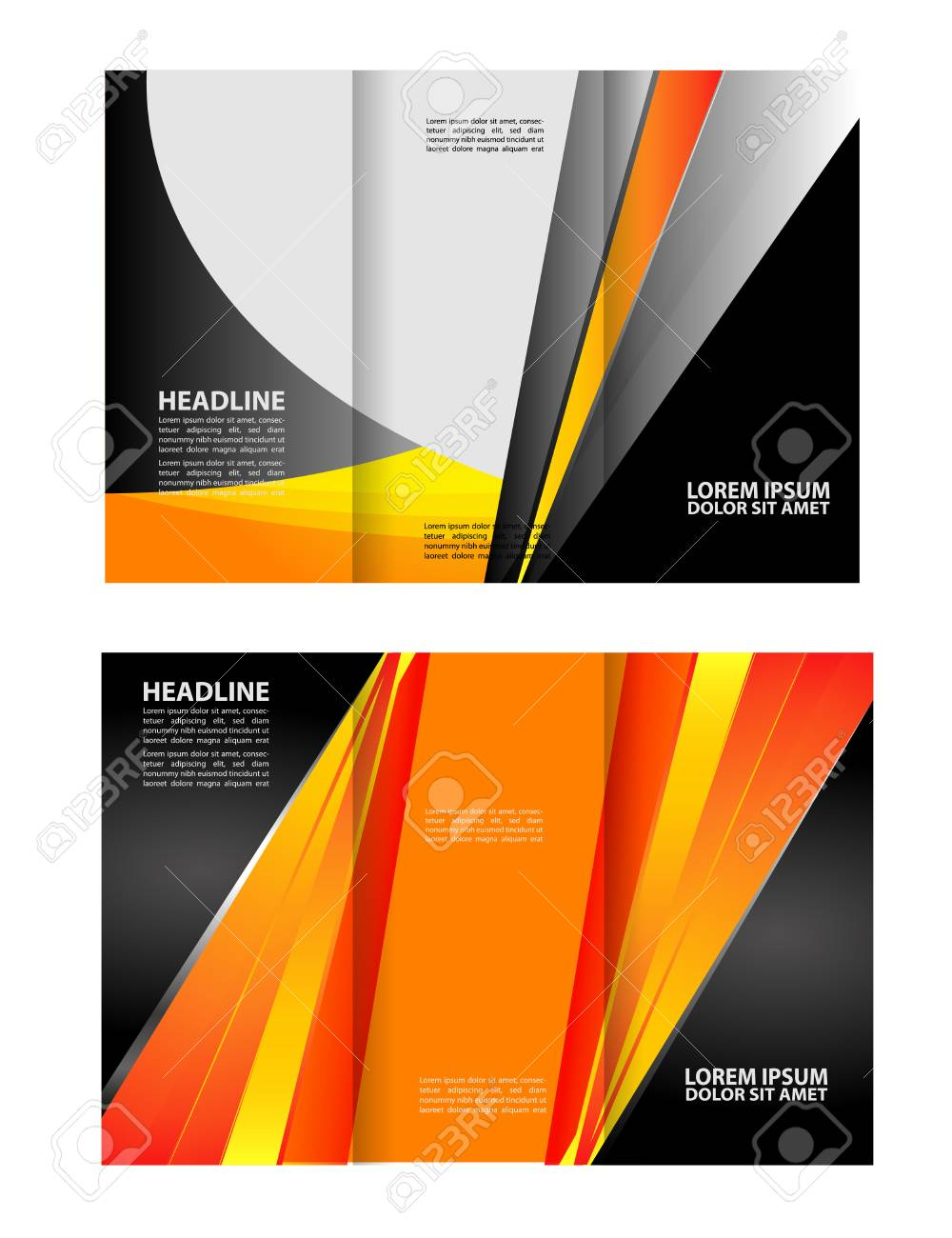 tri fold brochure design templates and catalog vector royalty free