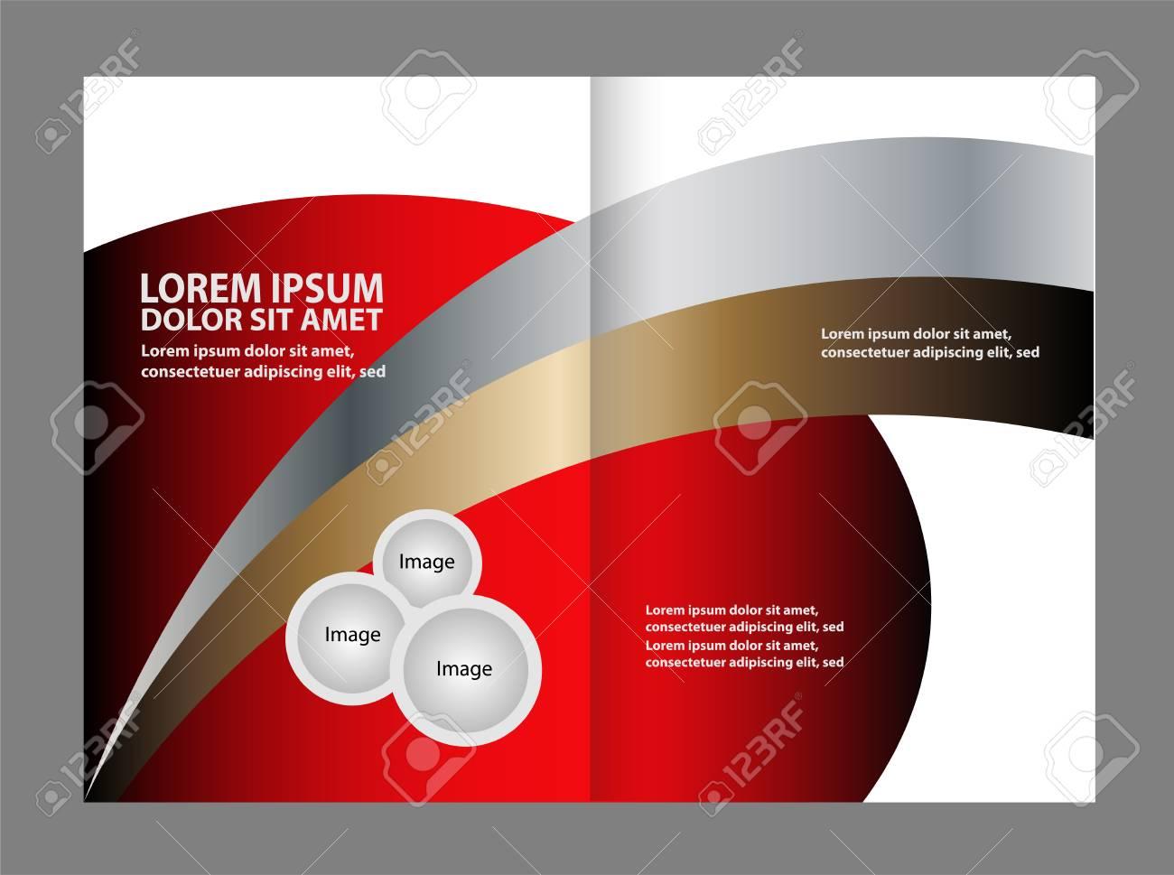 black bi fold brochure design templates business leaflet booklet
