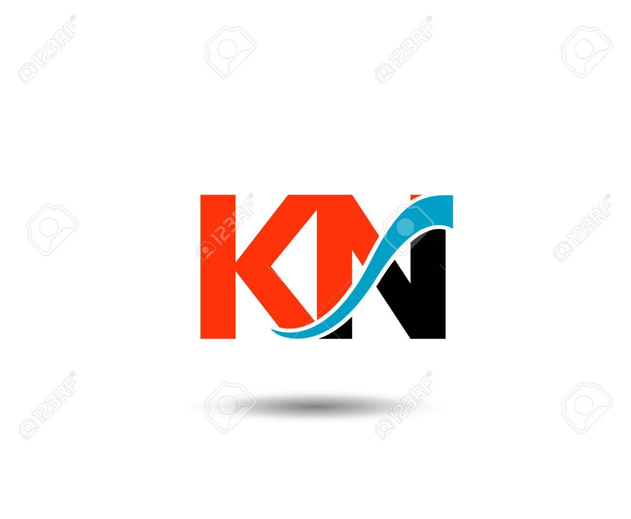 Enement Letter   Kn Letter Vector Graphic Element Letter Branding Royalty Free