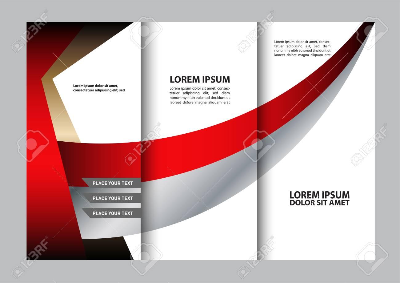 tri fold brochure design beauty salon and catalog vector template stock vector 60495681