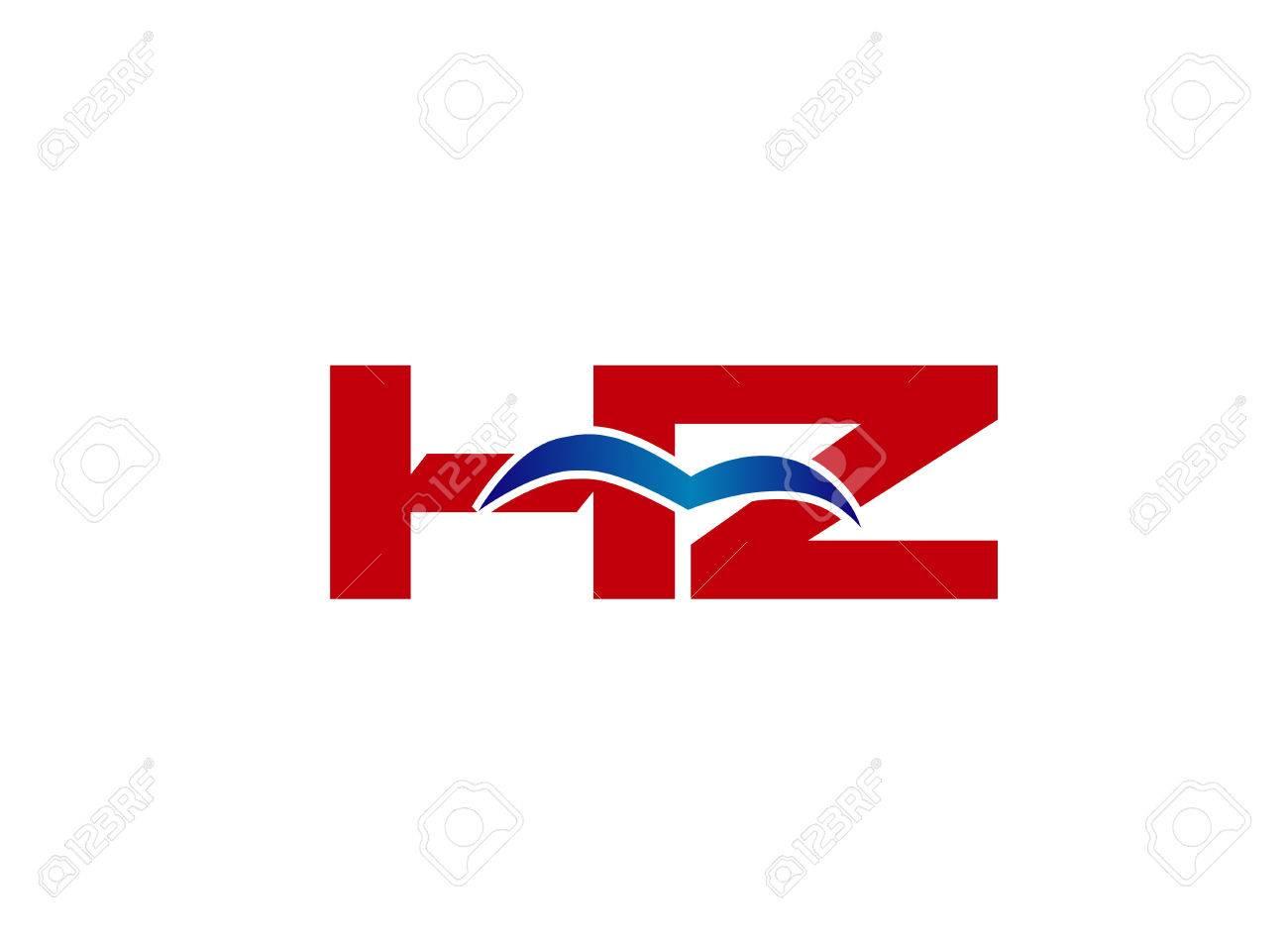 Logo HZ. Vector Graphic Element Letter Branding - 63382119