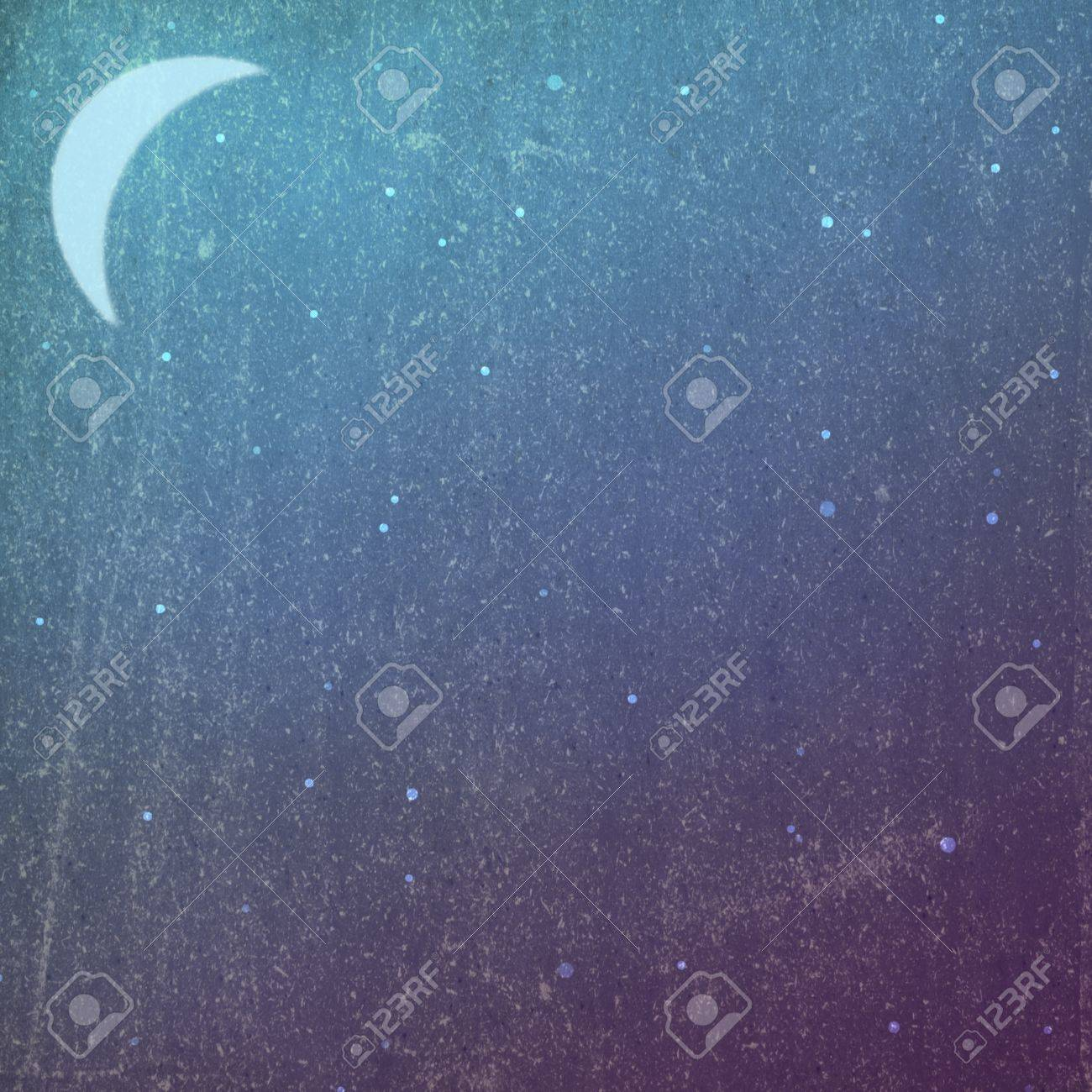 Grunge/vintage night background with moon - 15803456