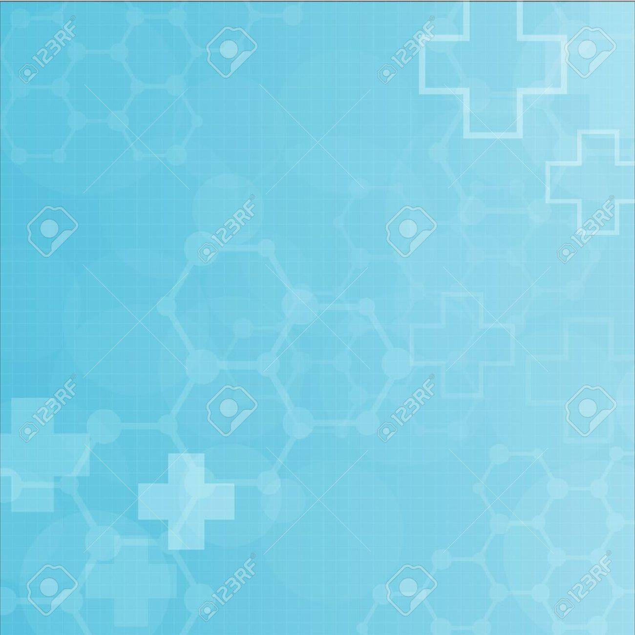 Abstract molecules medical background - 18387880