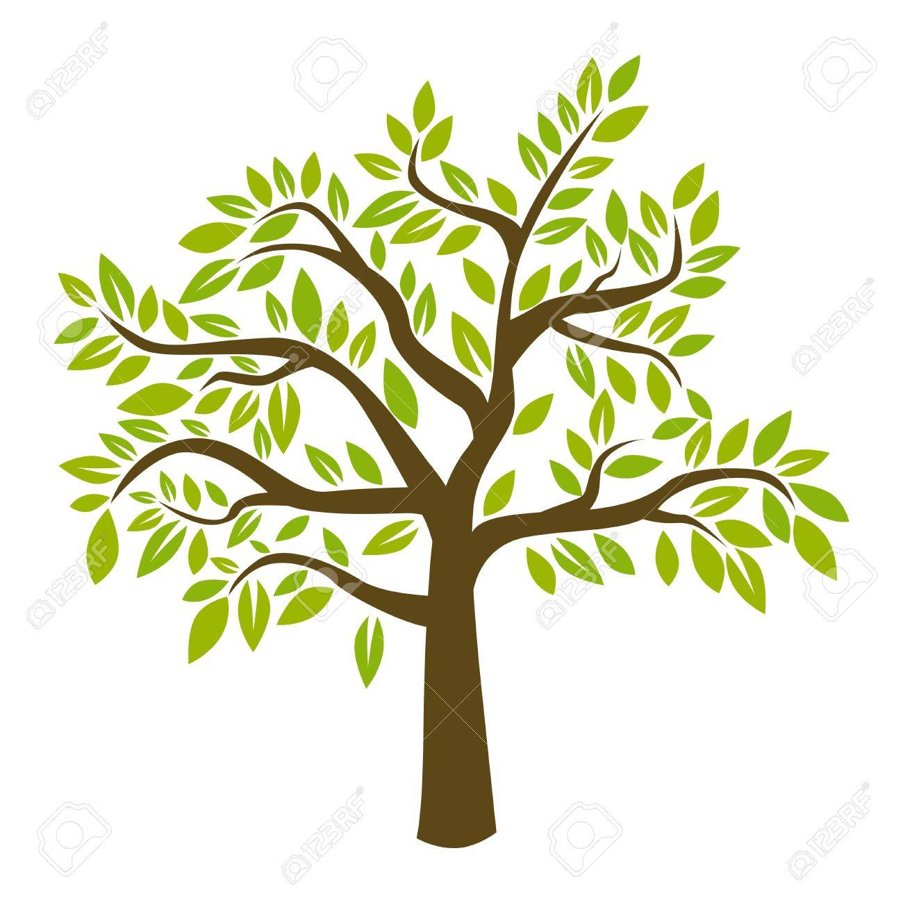 silhouette of tree vector illustration royalty free cliparts rh 123rf com tree vector freepik tree vector free icon