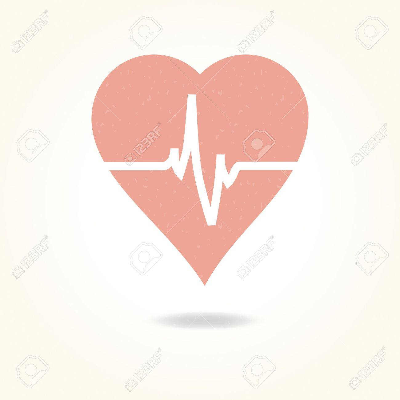 Vector medical background with heart and cardiogram - 22176163