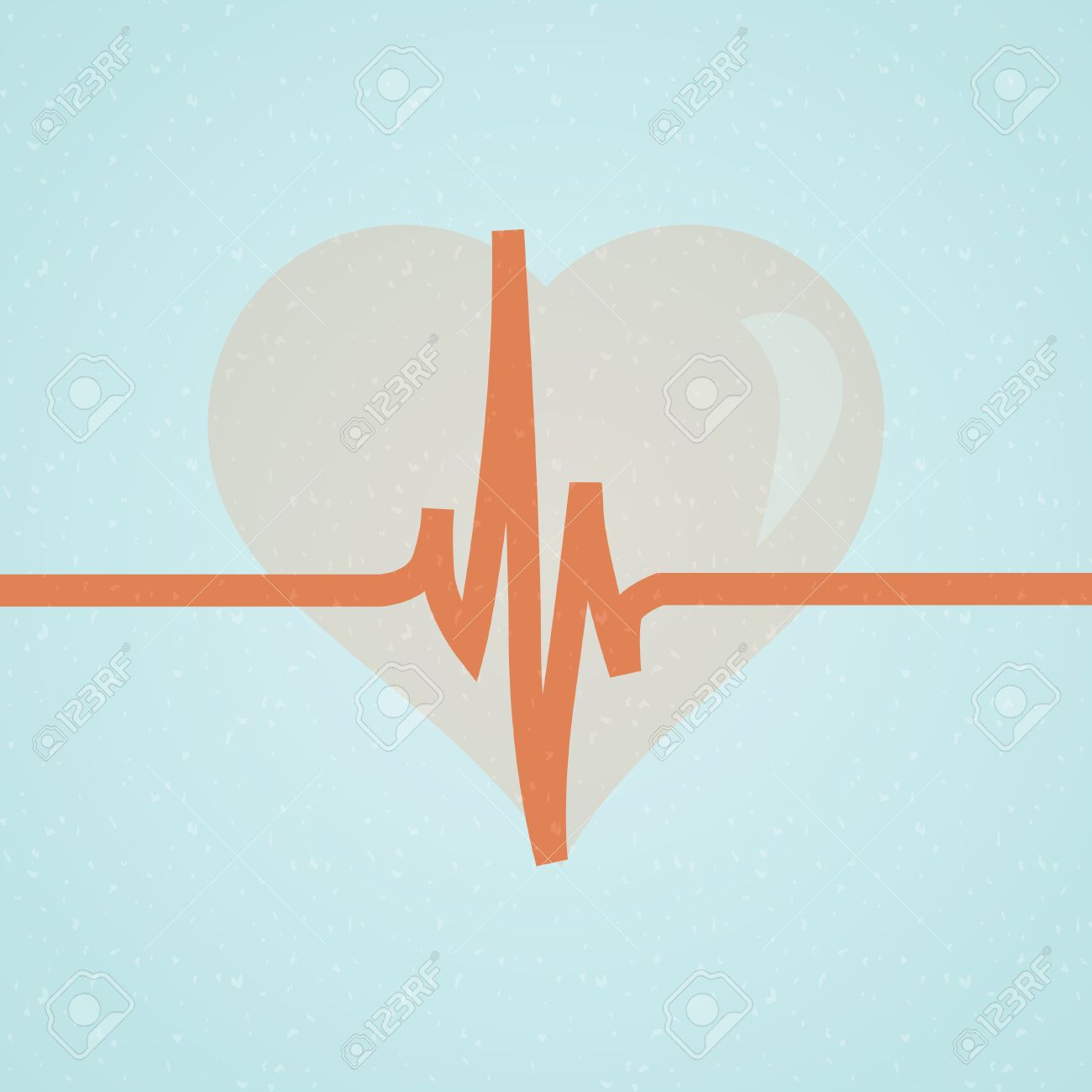 Vector medical background with heart and cardiogram Stock Vector - 22176164