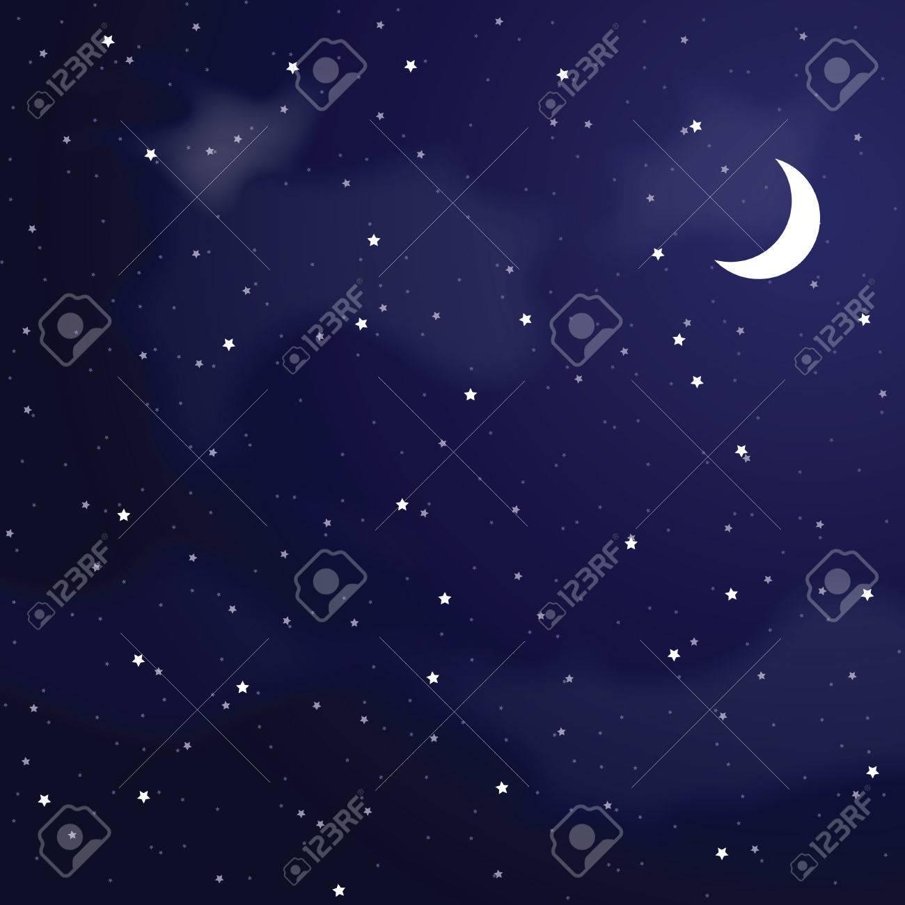 Vector illustration of night sky - 22561647