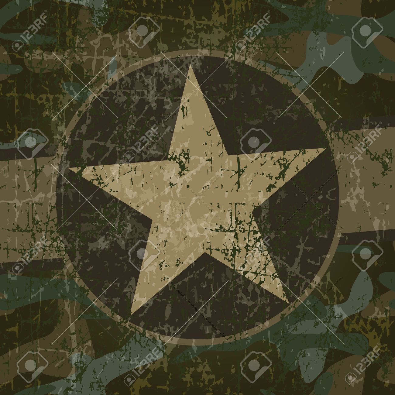 Military background with copy space and star - 23284449