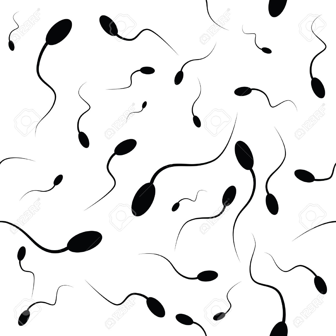 Spermatozoons as a background. Vector illustration. Stock Vector - 23655699