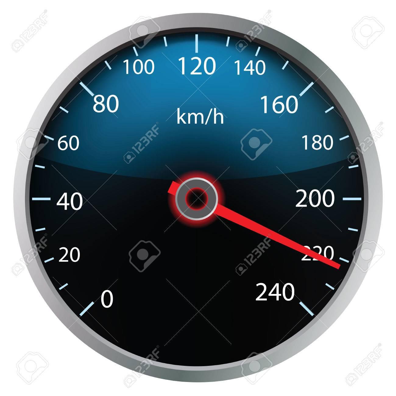 Speedometer on white background (vector illustration) - 25236274