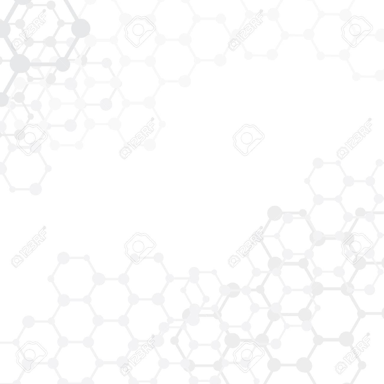 Abstract molecules medical with copy space (vector illustration) - 25496115