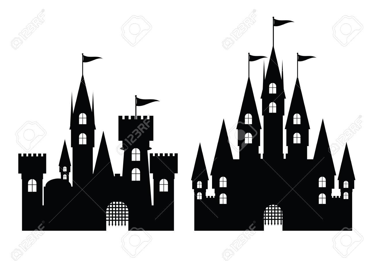 Collection of castle isolated on white, vector illustration - 26038848