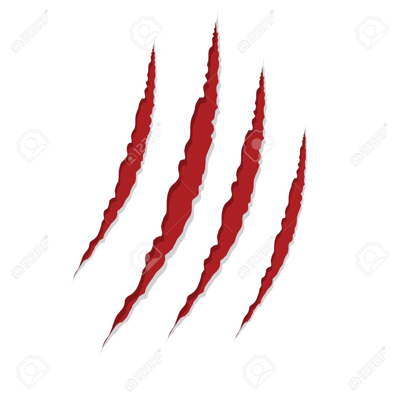 claw scratches isolated on white , vector illustration - 26559659