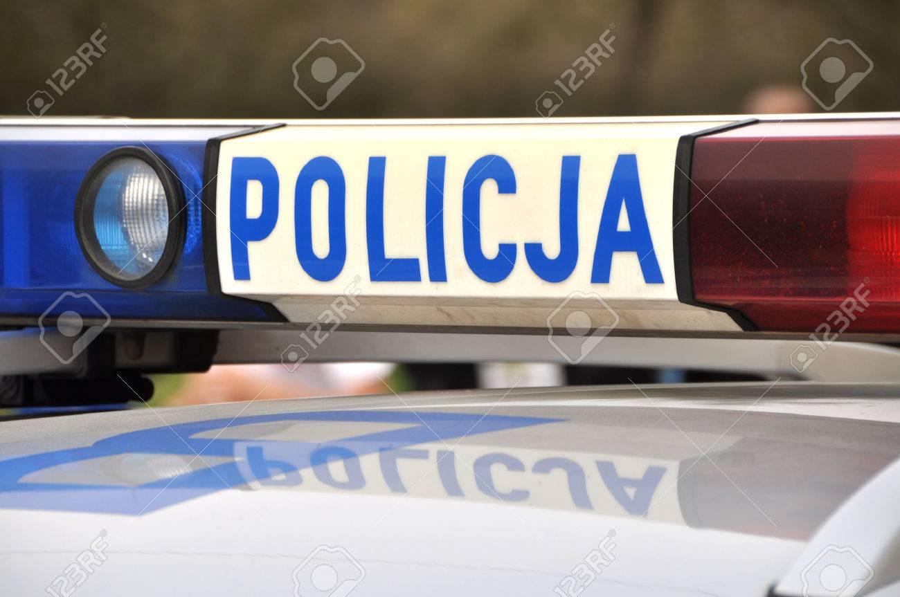 Polish police car Insrription policja - 27563610