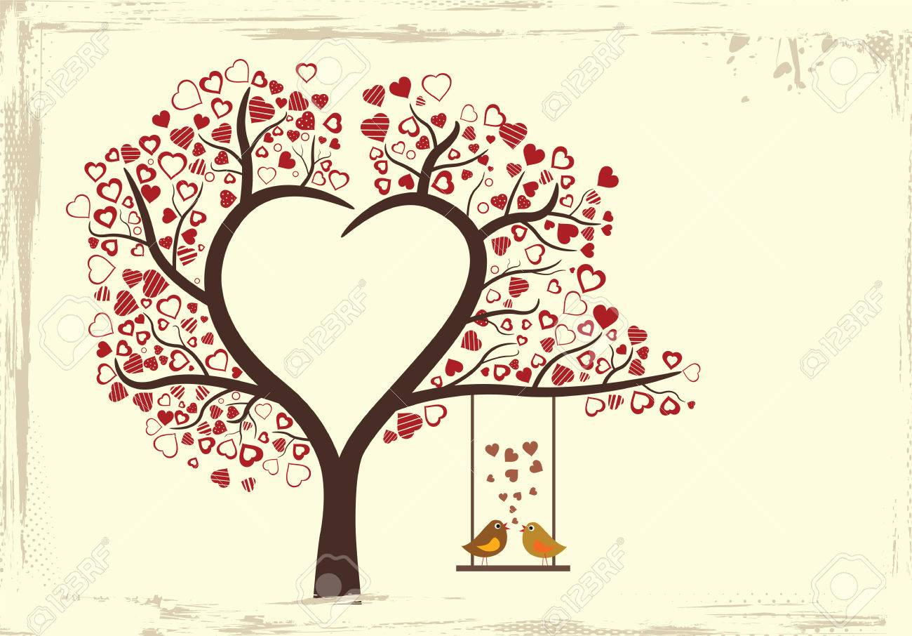 birds love design in vintage style, vector illustration - 29266394