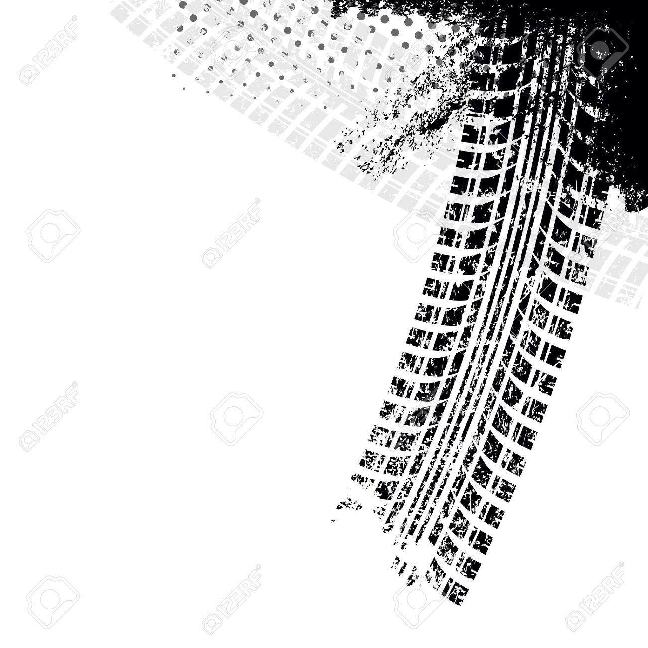 Background with grunge black tire track , vector illustration - 29266404
