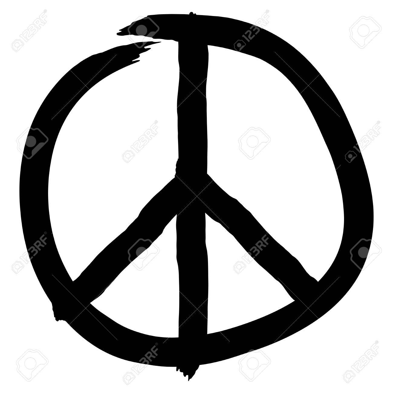 Peace symbol isolated on white background, vector illustration - 32496663