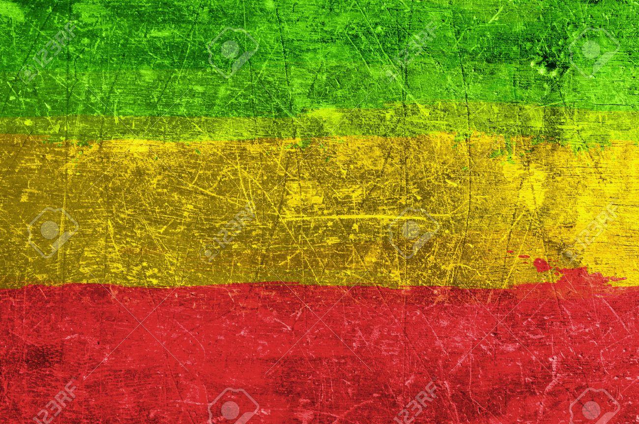 Grunge rasta flag as a background - 33647707