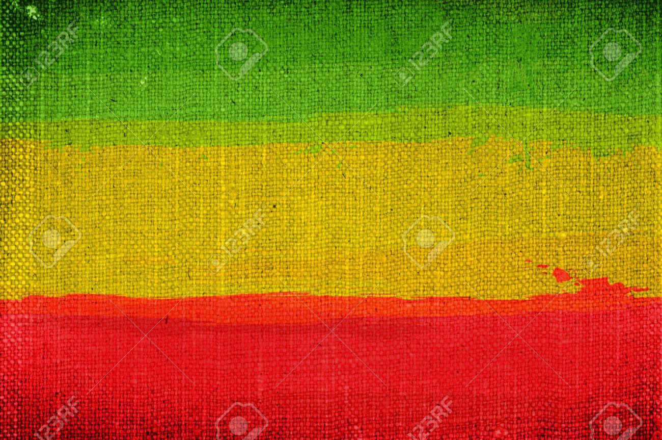 Grunge rasta flag as a background - 33647696