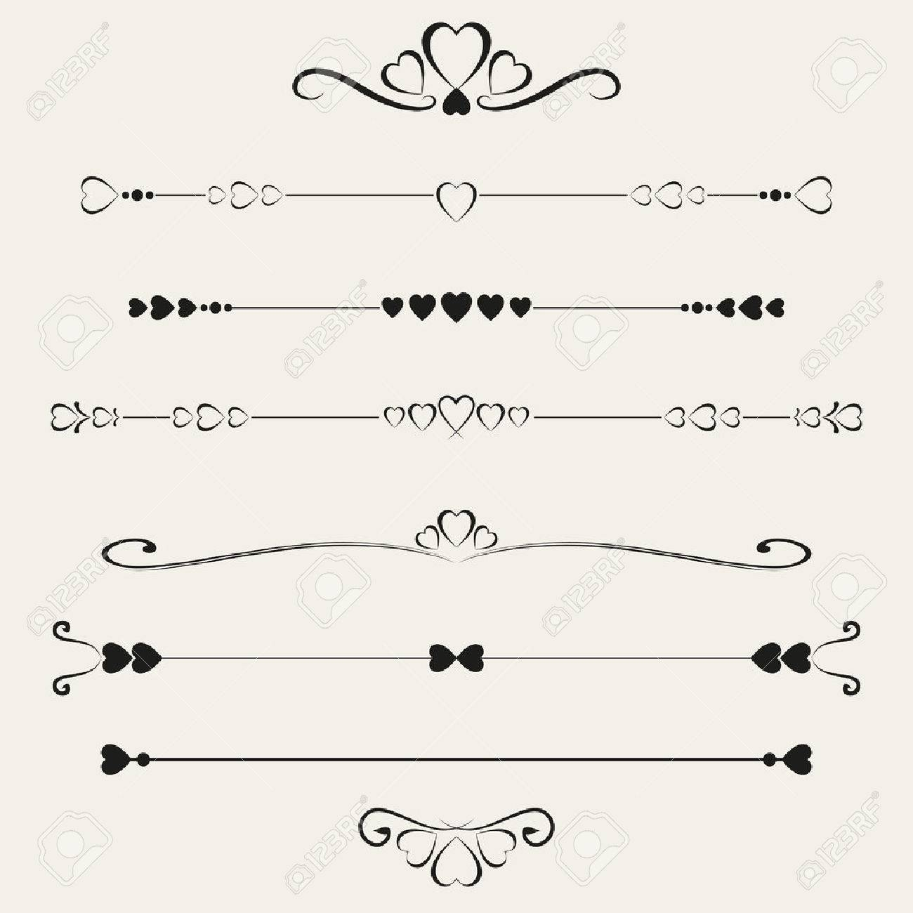 Set of valentine elements, vector illustration - 35152022