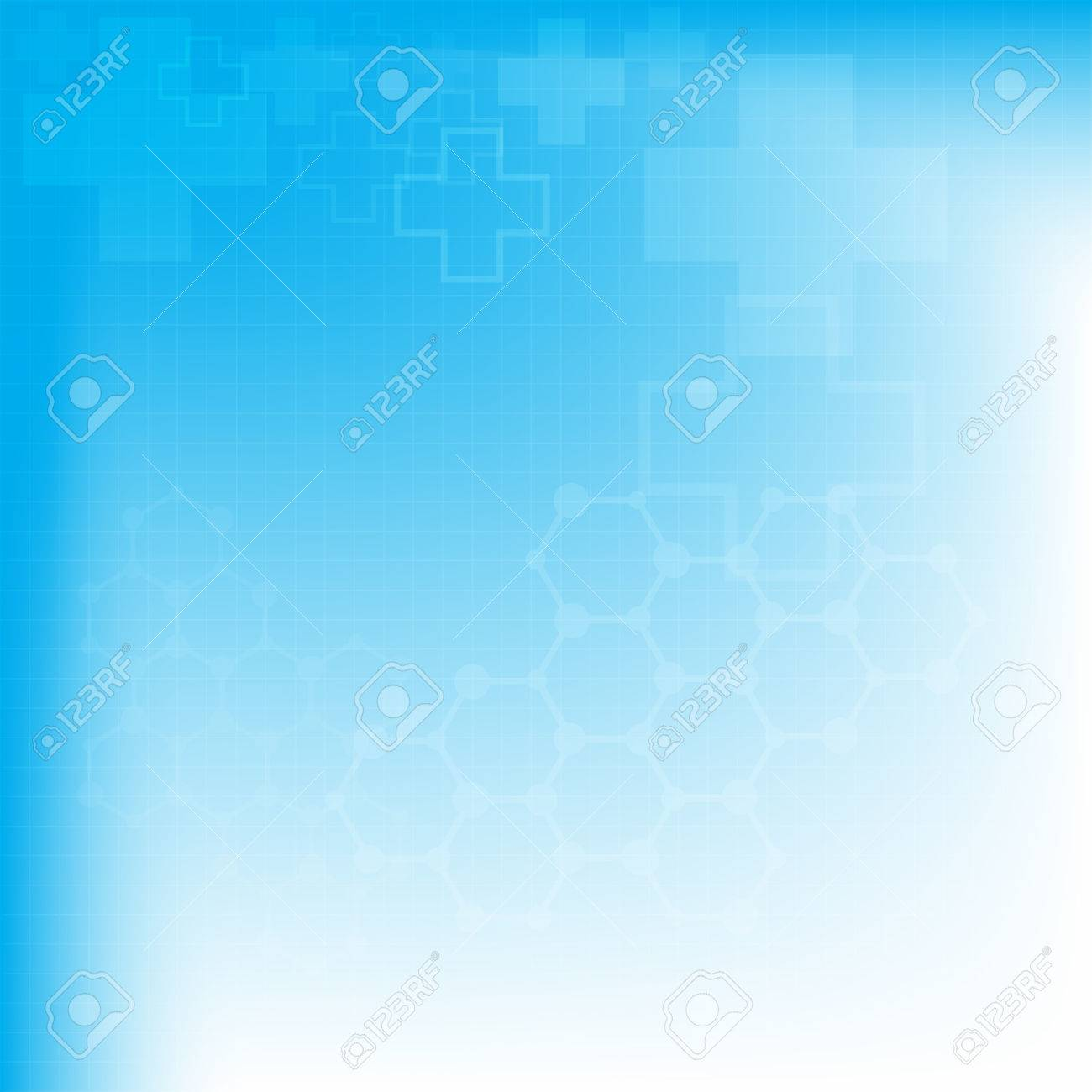Abstract molecules medical background, vector illustration - 37046313