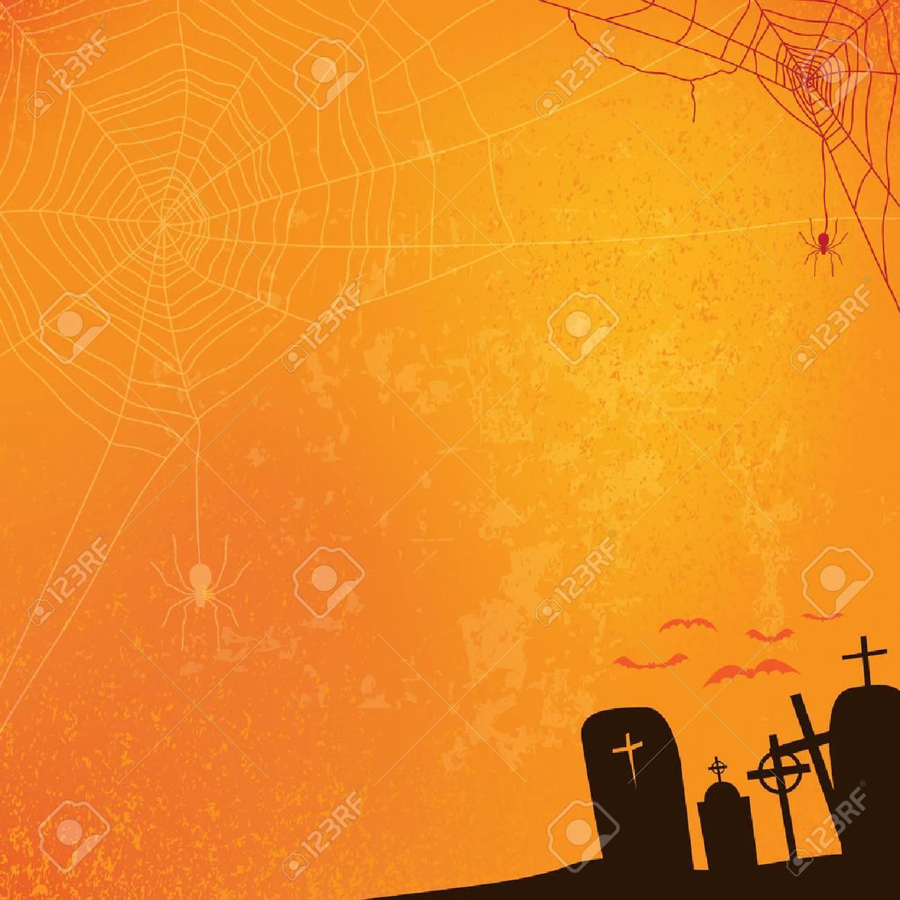 abstract halloween background, vector illustration - 45670199