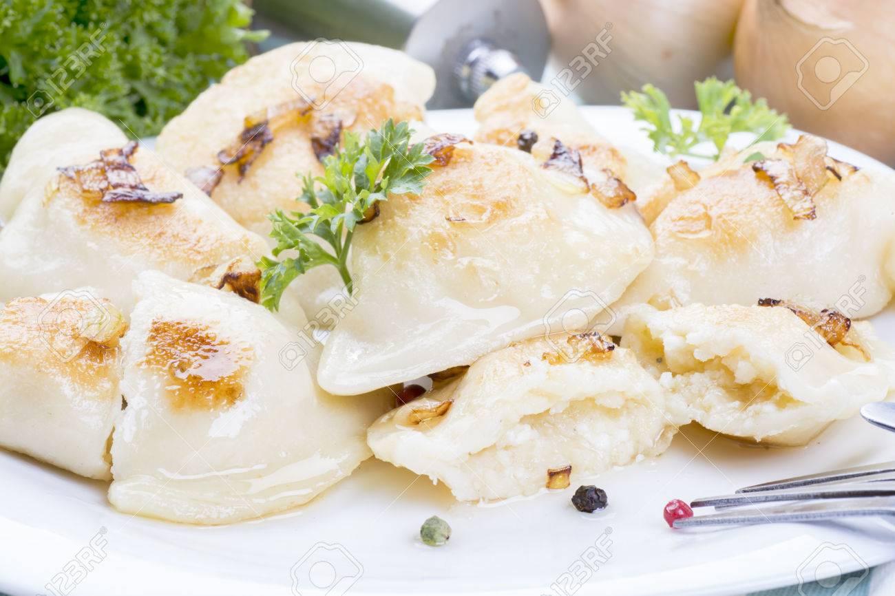 homemade pierogi dumplings, polish food - 49034793
