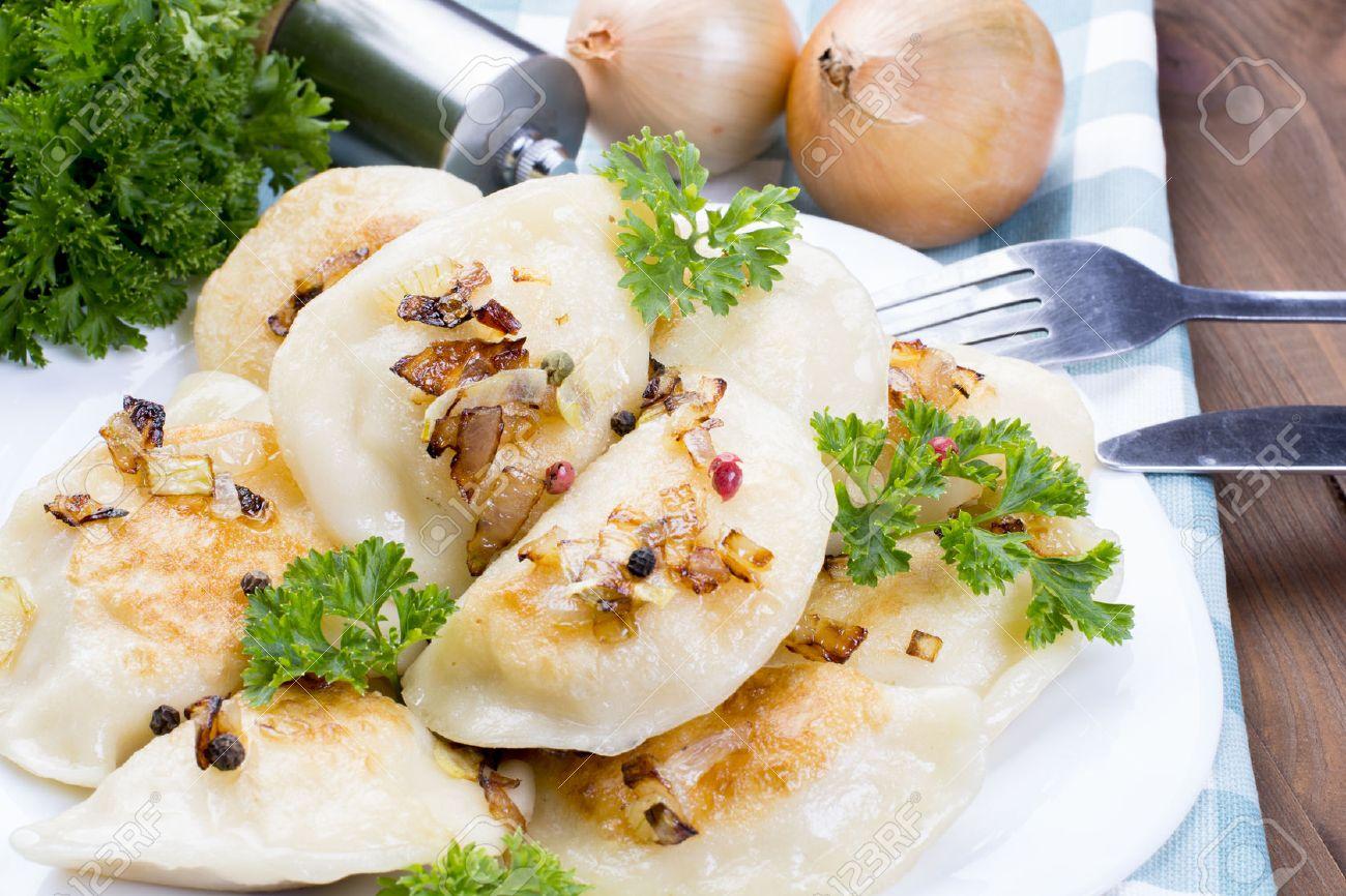 homemade pierogi dumplings, polish food - 49034836