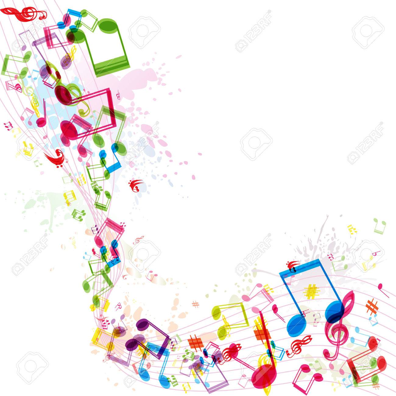 Abstract music background, illustration - 53563966