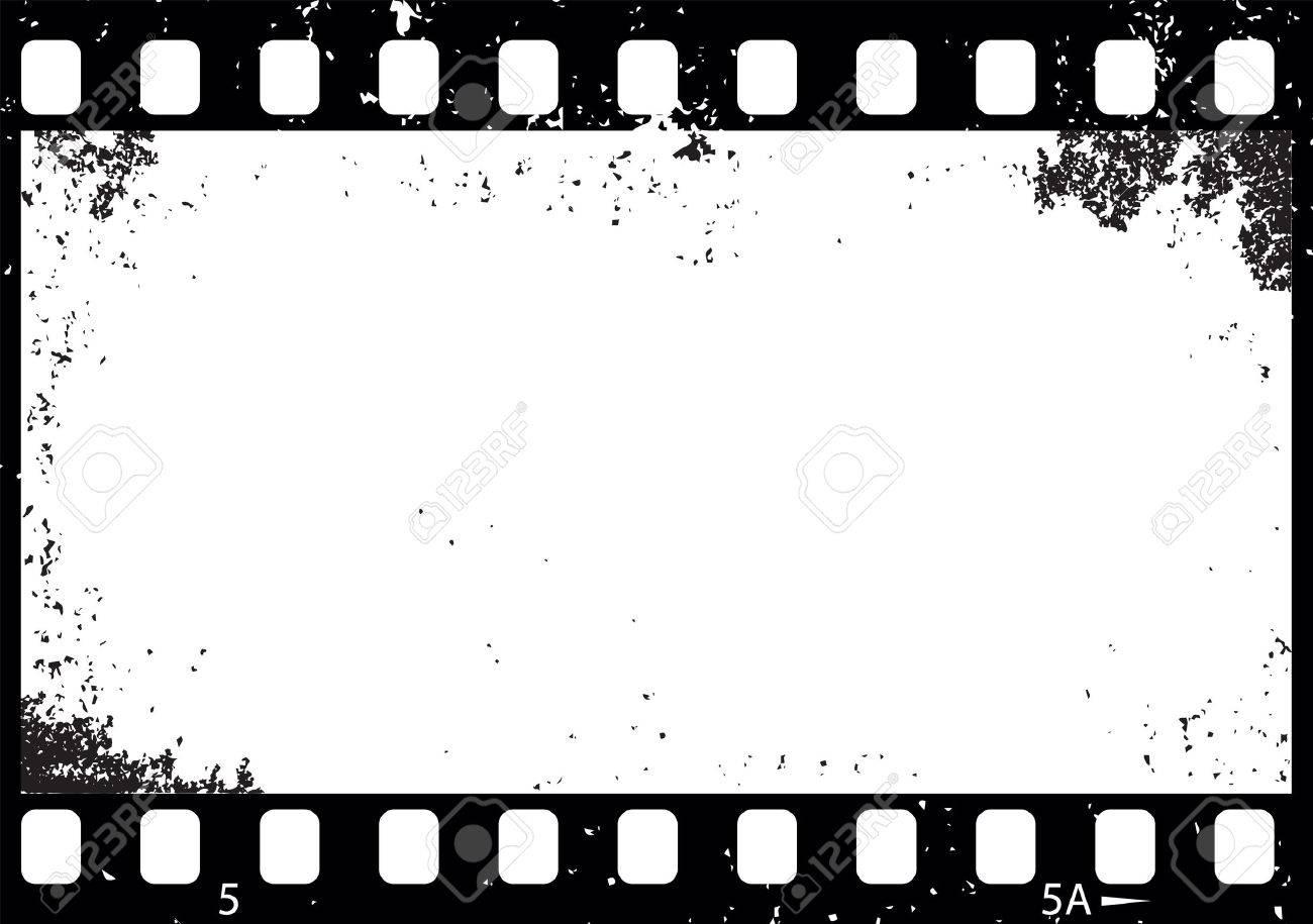 Grunge black and white film frame illustration - 57462703
