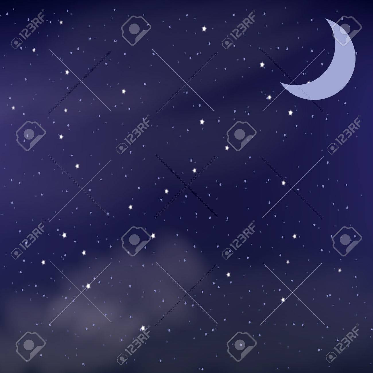 Cloudy night sky as a background - 62196774