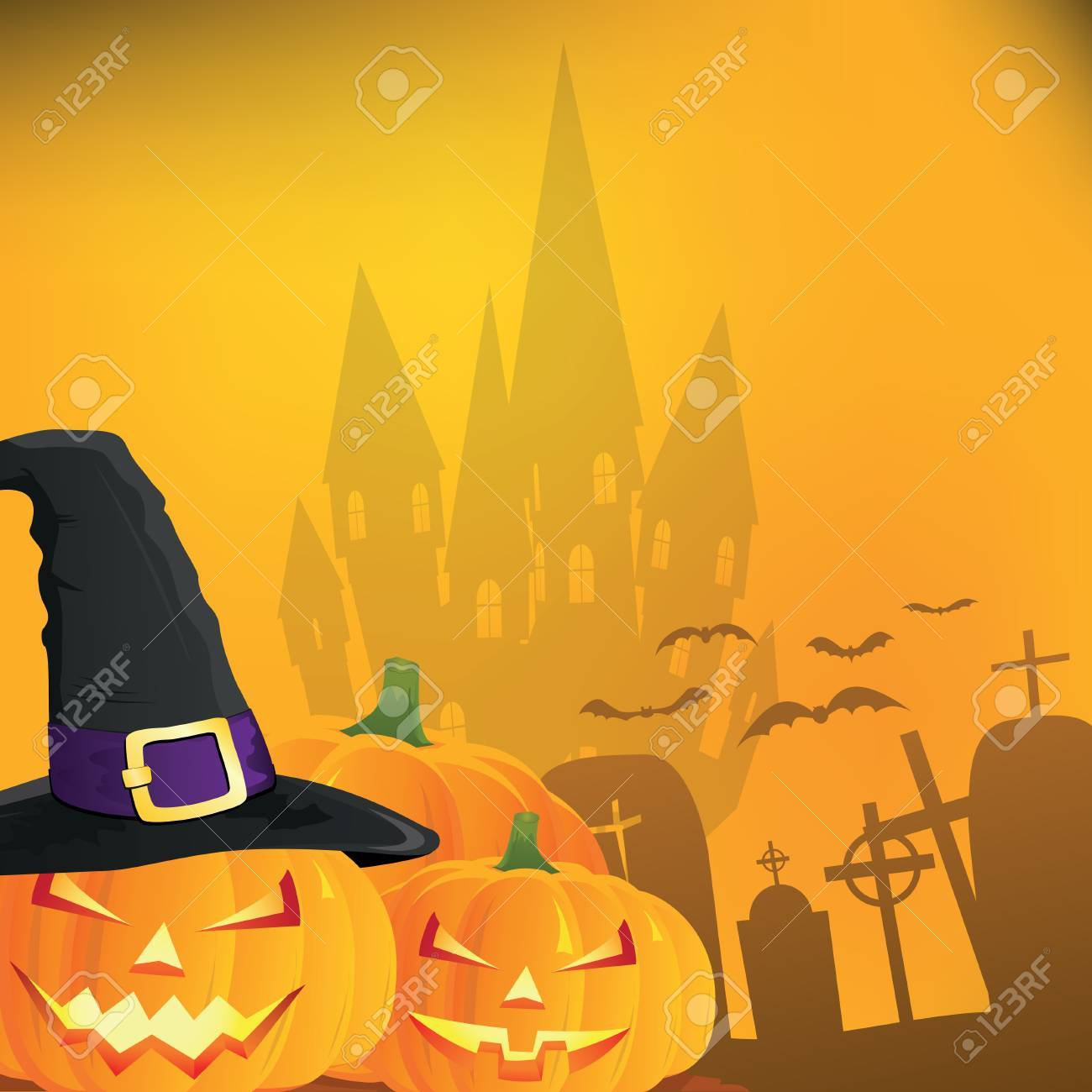 Abstract halloween background, illustration - 62197425