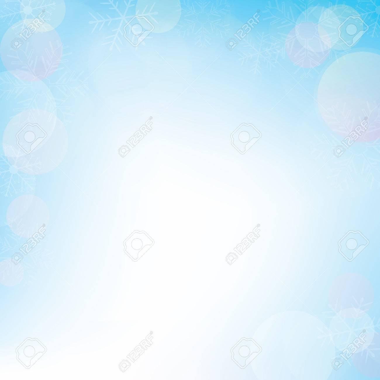 Winter bokeh background for christmas, vector illustration - 68098592