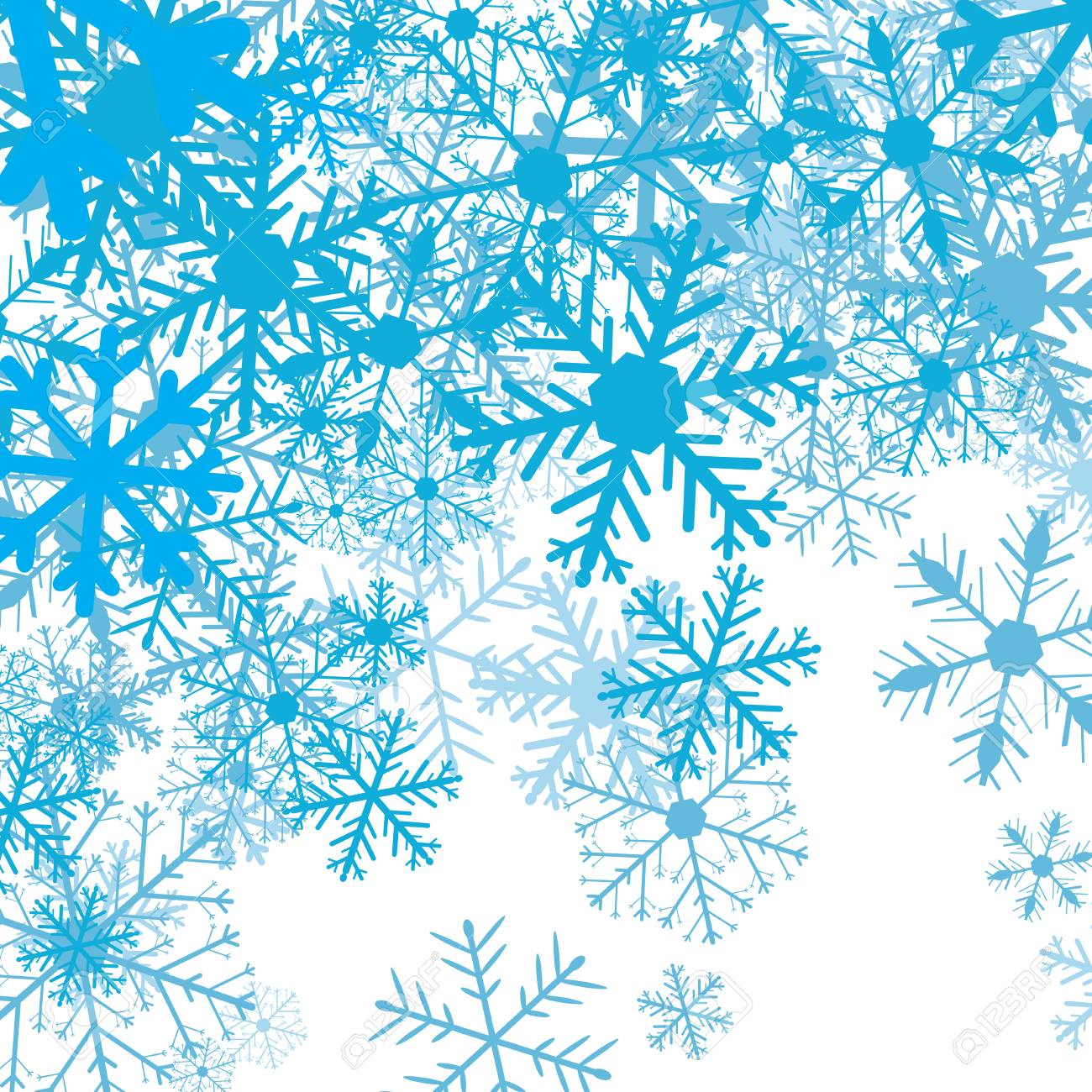 Winter background with snow flakes, vector illustration - 68098594