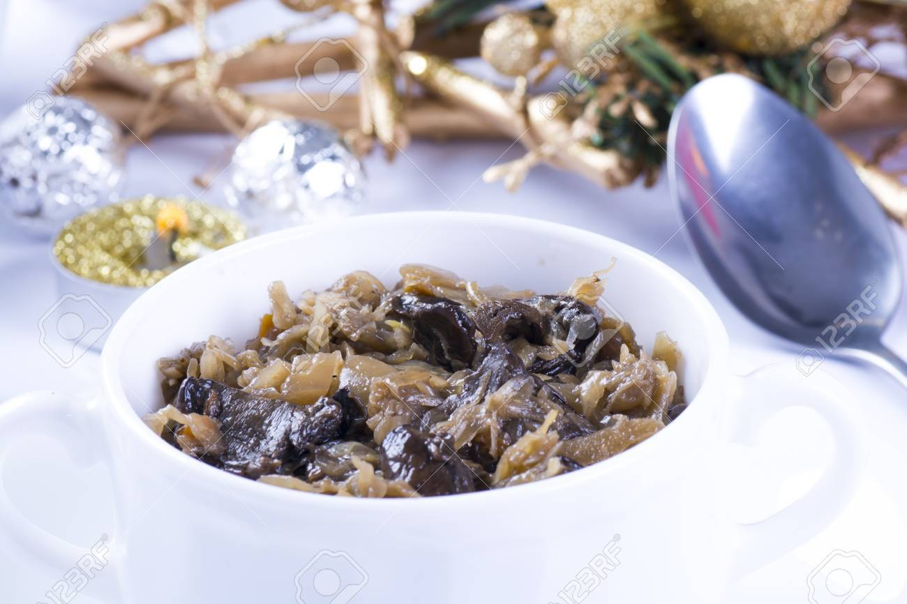 Traditional polish sauerkraut with mushrooms for christmas - 69640481