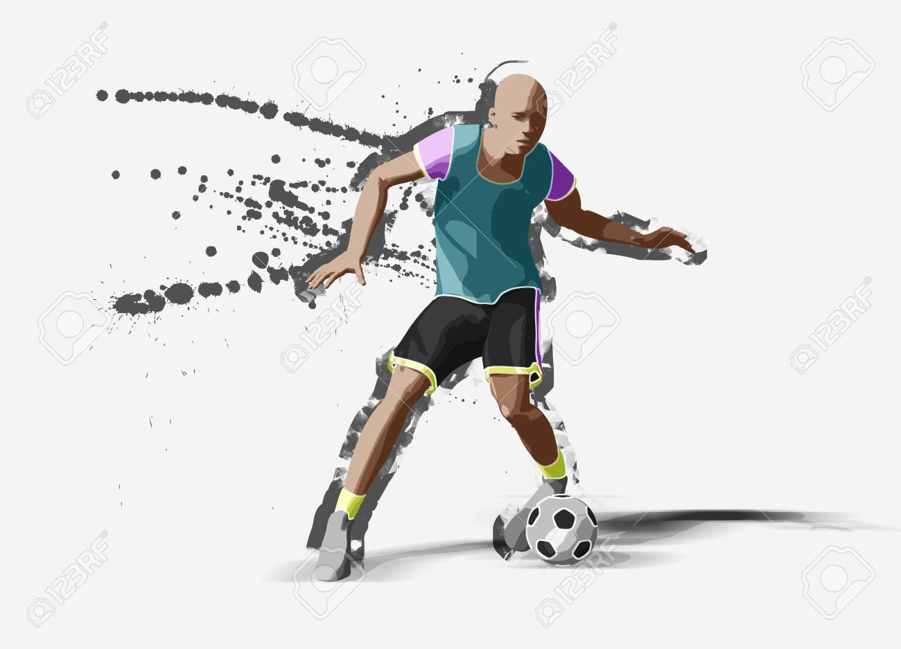 7823847be0 Soccer Player, 3d Rendering Stock Photo, Picture And Royalty Free ...