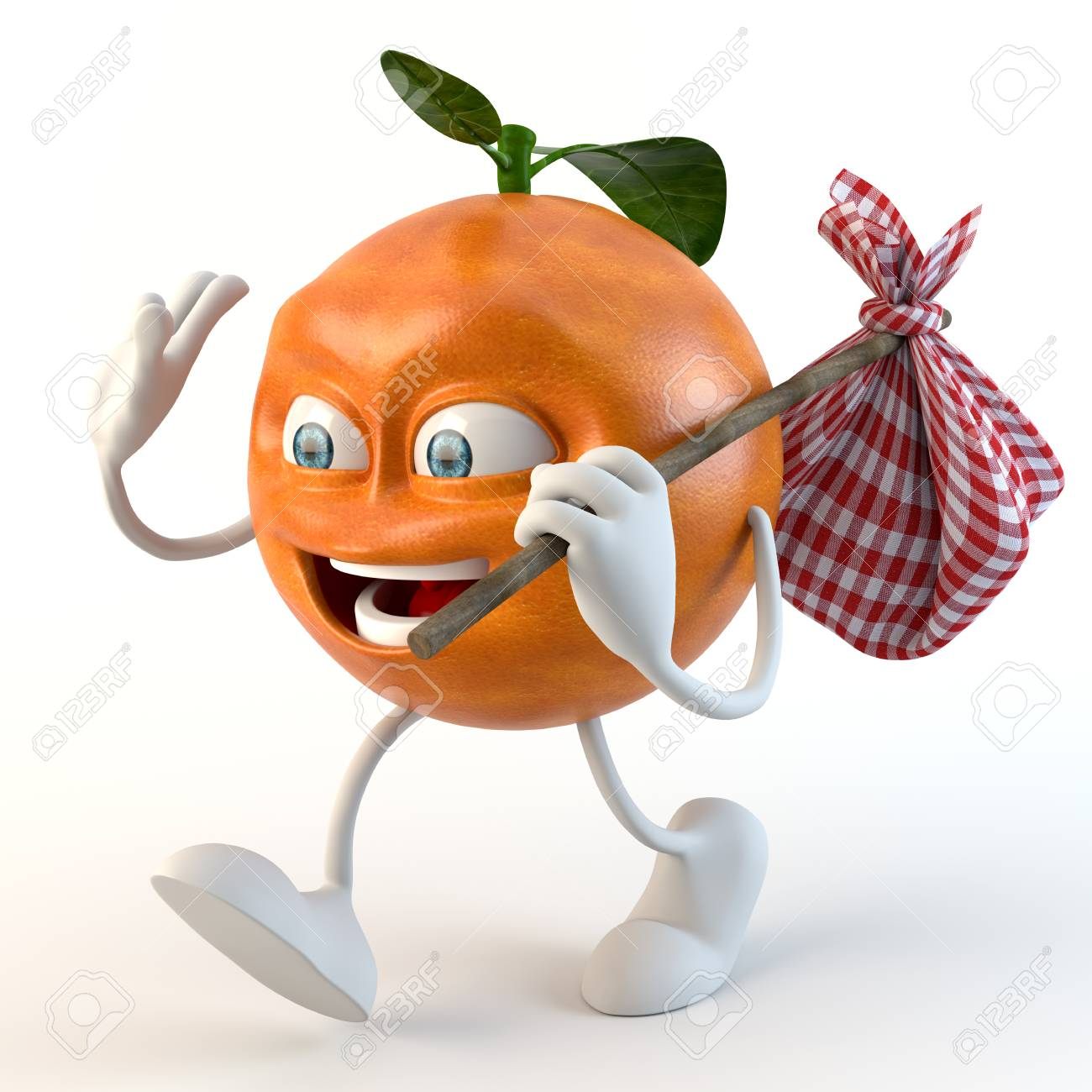 f443f7c68 Funny 3d Fruit Character With Bindle Stock Photo, Picture And ...