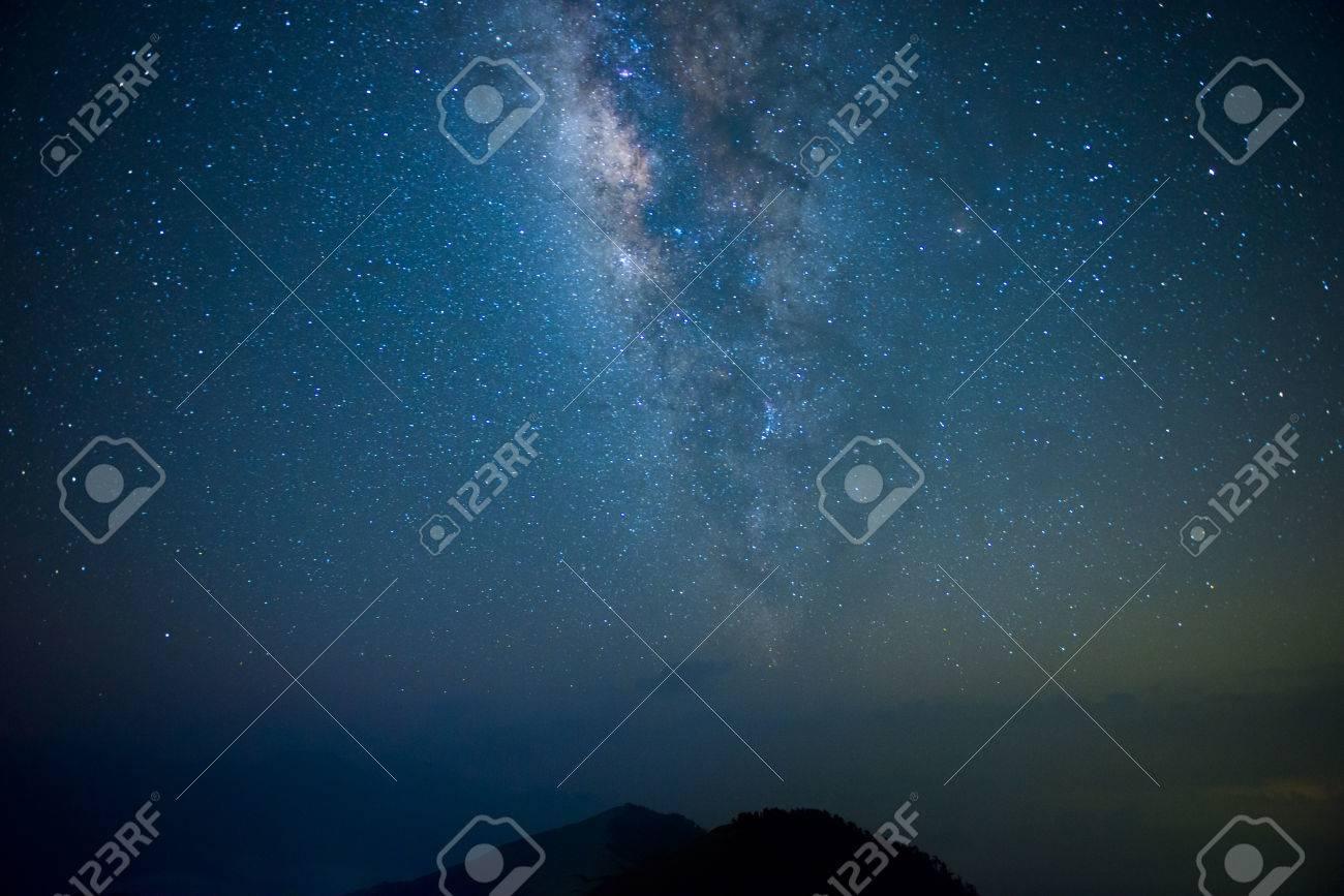 Une section de la Voie Lactée et la galaxie d'Andromède Banque d'images - 42819397
