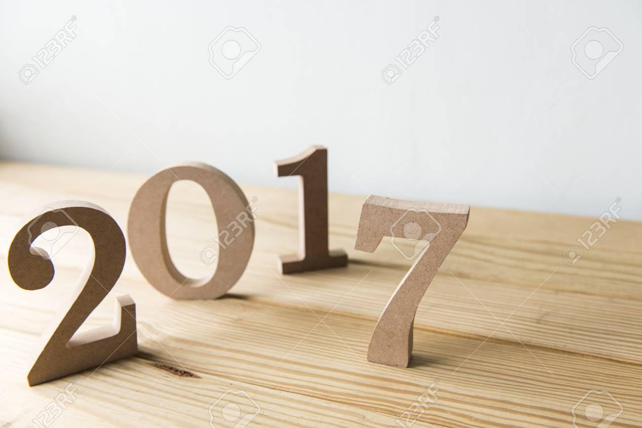 Happy New Year 2017 sur un fond blanc Banque d'images - 50594520