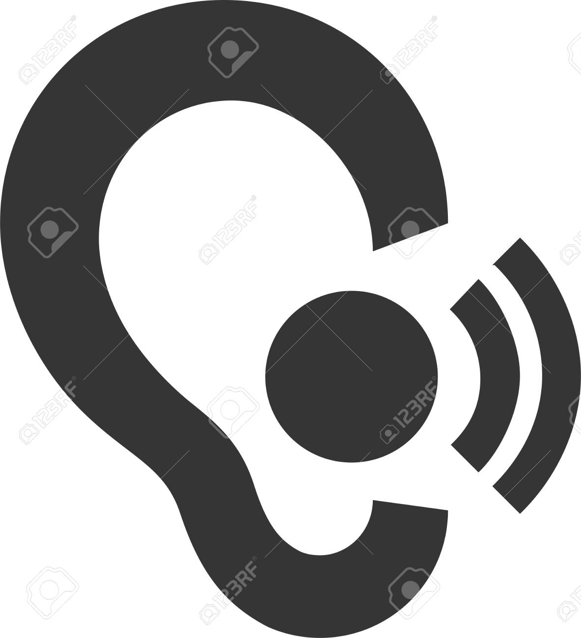 In Ear Headset Wireless Call Hearing Aid Symbol Or Icon
