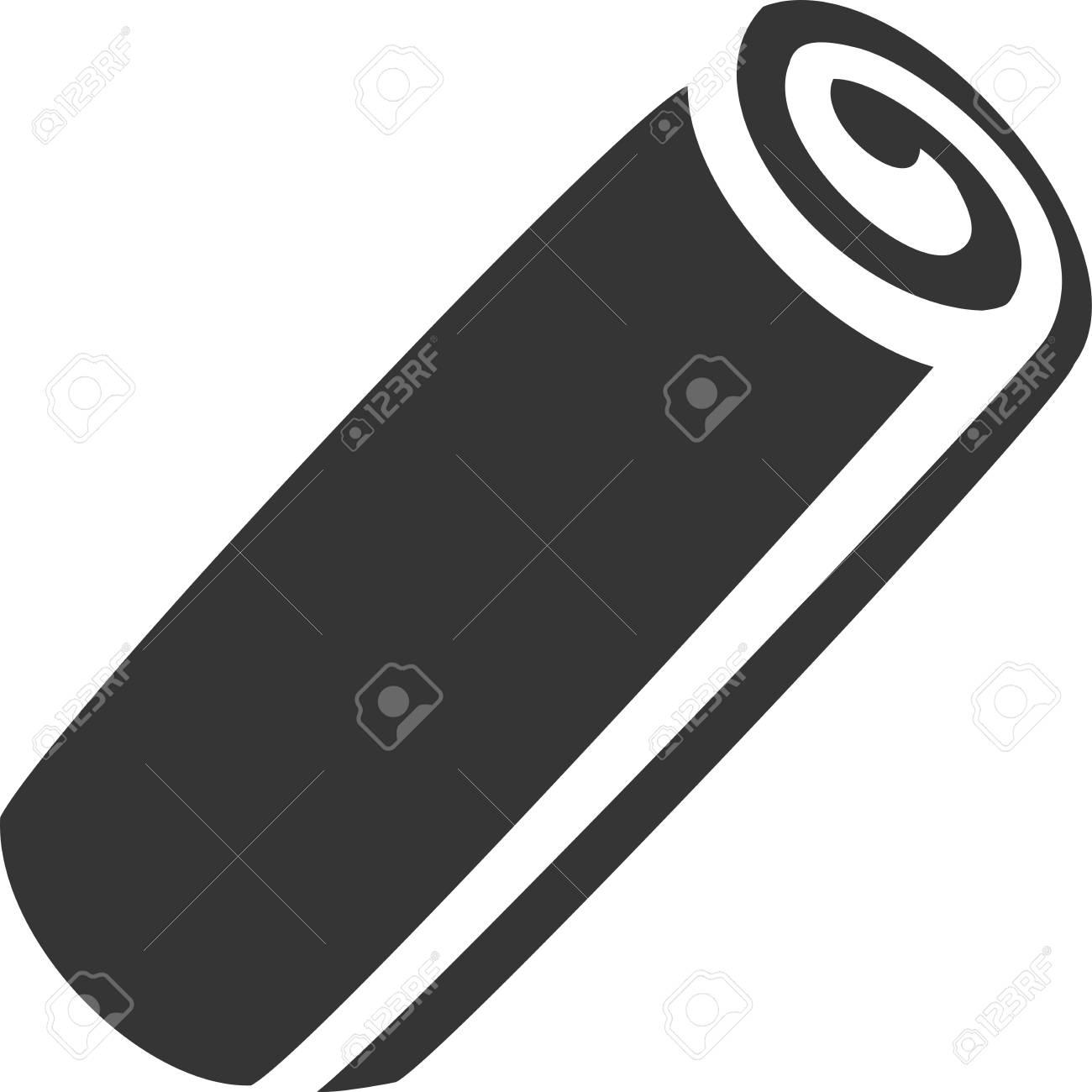 Handtuchrolle Gefullt Kreative Vektor Icon Shape Bad Teppich Oder