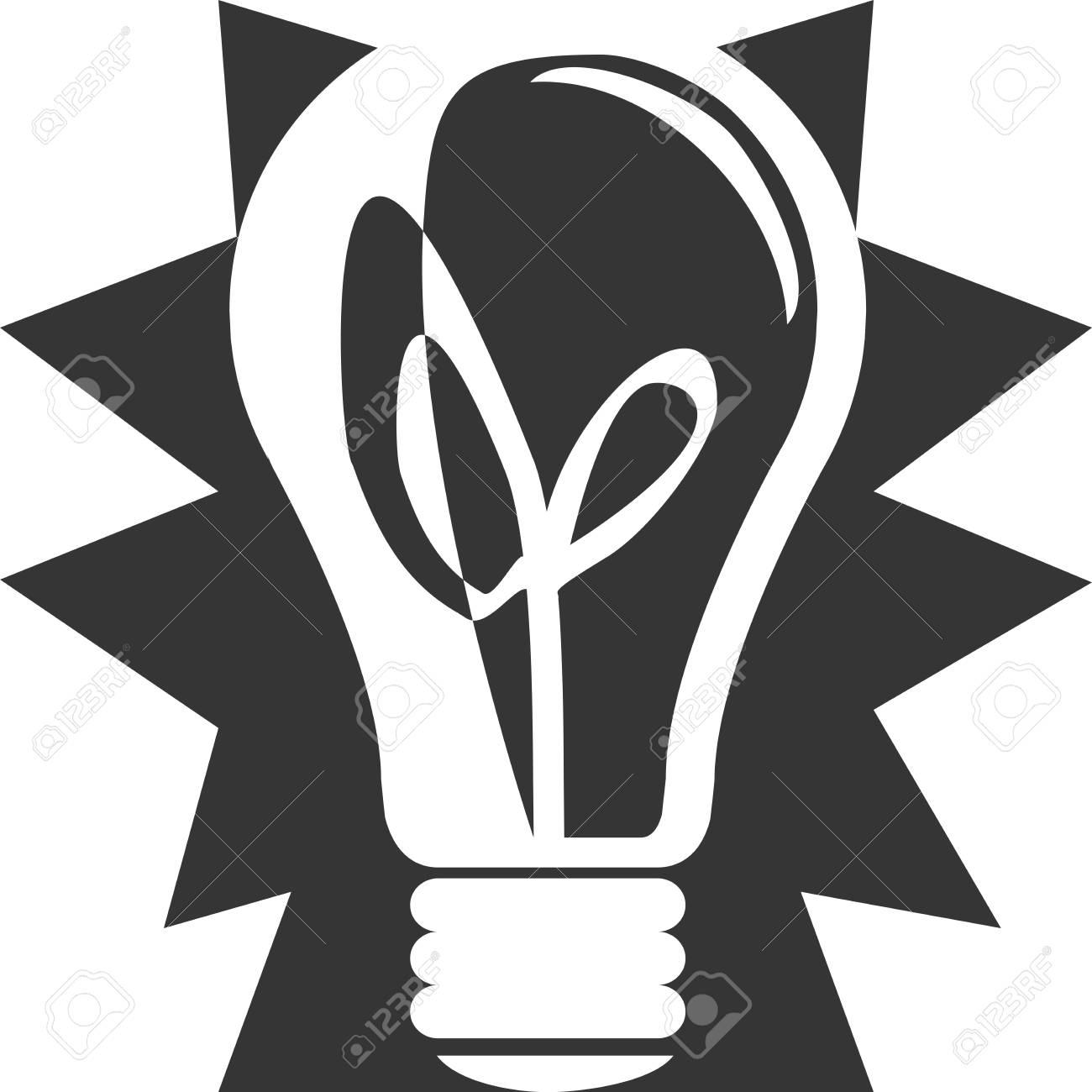 Extreme Glühbirne - Blinkende Cartoon-Stil. Glänzendes Glänzendes ...